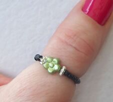 Cute Flower Beaded Stretch Thumb Ring
