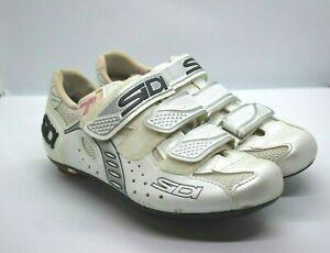 SIDI Women  Zeta Road Biking Shoes size 38.5 W Pearl Color