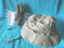 """1969 NOS VIETNAM WAR GREEN """"BOONIE"""" JUNGLE HAT w/INSECT NET US MILITARY SURVIVAL"""