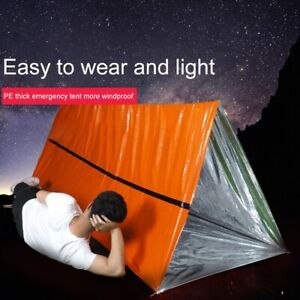 Emergency Shelter Outdoor Essentials Rescue Thermal Tent 1-2 Person Tents