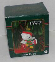 Carlton Cards Jump For Joy Polar Bear Ice Skates Christmas Ornament