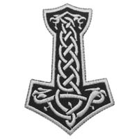Thor HAmmer Thin Superhero Patch Iron On Sew On Badge Embroidered Patch