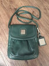 Tignanello Genuine Leather Green Crossbody Bag