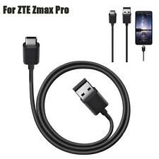 USB-C USB 3.1 Type C Data Charge Charging Cable For ZTE Zmax Pro Z981 Black