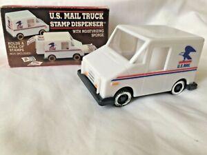 JSNY Mail Truck USPS US Postal Service Stamp Dispenser with Sponge. Plastic