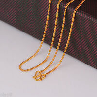 New Arrival Solid 999 24K Yellow Gold Chain Women Curb Link Necklace 25.5inch