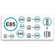 Planche de stickers super ethanol E85 nouveau carburant