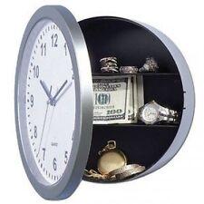Reloj De Pared secreto oculto dinero seguro W 3 Estantes Invisible Rack de almacenamiento de joyas