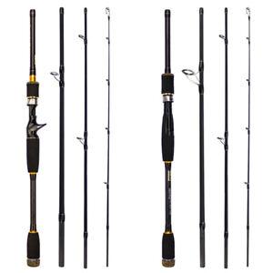 Carbon Fiber Fishing Rod 2.1-3.0M Travel Spinning Lure Rod Sea Saltwater Pole