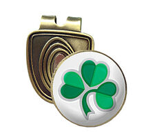 SHAMROCK FUSION CAP CLIP & MAGNETIC GOLF BALL MARKER IN BRONZE