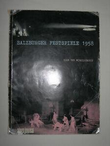 Salzburger Festspiele 1958 Programme Bohm Karajan Glenn Gould Kempff Fournier