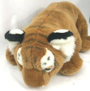 "Large Tiger Plush FAO Schwartz 24"" Long 11"" Tall Bengal Very Soft"