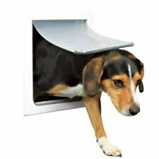 TRIXIE 2 Way Big Cat Pet Dog Flap Lockable Door Size S-M 30x36 cm White 3878