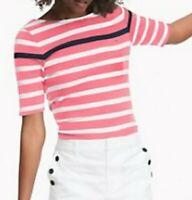 Tommy Hilfiger Damen 3/4 Arm T-Shirt, Baumwolle T-Shirt, Alle Großen