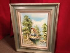 HENRY CARLTON SIGNED OIL ON CANVAS OLD MILL SCENE