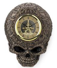 Steampunk Flat Skull Wall Clock Figure Sculpture Statue  - WE SHIP WORLDWIDE