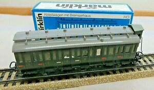 Märklin 4005 H0 Prussian Compartment with Brakeman's Cab 2. Class Green Boxed