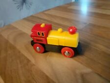 BRIO WORLD RED/YELLOW BATTERY ACTION TRAIN - FULLY WORKING