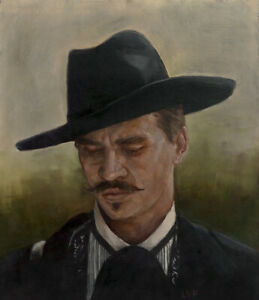 Doc Holliday PRINT from original oil painting 13x19in, Tombstone