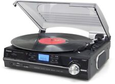 Steepletone Black Record Player With One Touch MP3 Recording And Playback, Pro
