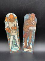 Star Wars: Return of the Jedi Random House 1983 Bookmarks Chewbacca & Ackbar