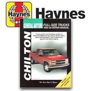 Chilton Repair Manual New for Chevy Chevrolet C1500 Truck C3500 28624
