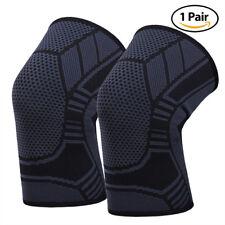Knee Patella Support Arthritis Wraps Compression Sleeve Joint Sport Brace 1 pair