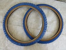 BLUE NOS CHENG SHIN COMPETITION 3 TIRES  BMX RACING 20'X175 + 2.125  VINTAGE