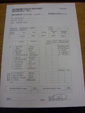 25/10/2014 Tottenham Hotspur Youth v Reading Youth  (2 Sided Single Sheet, Excha
