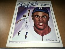 1987 Los Angeles Dodgers Baseball Blue Book by Tot Holmes