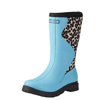 ARIAT Women's Springfield Blue Cheetah Waterproof Rubber Boot 10021524 NIB