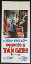 CINEMA-locandina AGGUATO A TANGERI purdom, page, cervi, FREDA