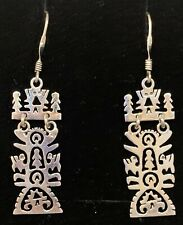 Mexican Sterling Silver Storyteller Tree Of Life  Earrings