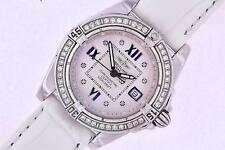 Breitling Galactic Cockpit Ladies Diamond Watch Ref A71356 Stainless Steel Watch