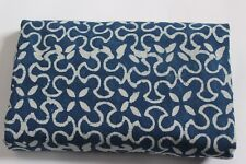 Hand Block Print 10 Yard Fabric 100% Cotton and Natural Indigo Color SSTHVCC70