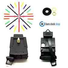 Quartz Clock Pendulum Drive Unit With Movement Mechanism Motor & Coloured Hands