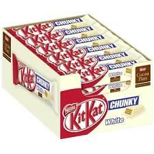 Nestle KITKAT CHUNKY WHITE Kit Kat Chunky White 18 Bars (Half Box)
