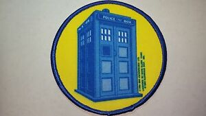 VINTAGE DOCTOR WHO TARDIS CLOTH PATCH UNUSED with license details