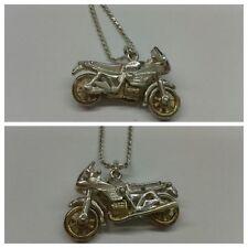 Bella Collar 925 Plata con colgante MOTO CADENA DE PLATA 45 cm