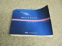 2014 14 KIA FORTE OWNER'S MANUAL SET BOOK - FREE SHIP- OM106