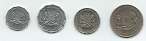 Somalia set 5 10 50 Senti 1 Shilling 1967-1984 XF