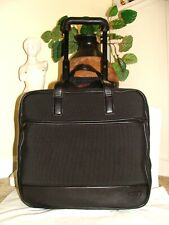 TUMI Rare 43102D3 Black Nylon Leather Rolling Carryon Laptop Wheeled Briefcase!
