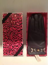 Juicy Couture Gloves Glamour Girl Goatskin Leather Jeweled Retails $108.00