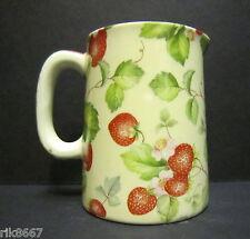 Heron Cross Pottery Strawberry Cream Chintz English 1/4 Pint Cream Jug