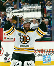 Boston Bruins Tim Thomas Stanley Cup Champs 8x10 Photo