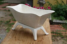 VINTAGE....VERY COOL.....WHITE, WITH BROWN SPECKS.....FOOTED...PLANTER....U.S.A.