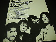 Sweathog Here Comes The Record Hallelujah 1971 Promo Display Ad mint condition