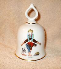1979 Danbury Mint Leapfrog Bell - The Wonderful World of Norman Rockwell