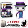 FUNKO POP DC BATMAN 1989 THE JOKER WITH HAT #337 EXCLUSIVE + FREE POP PROTECTOR