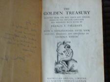 GOLDEN TREASURY OF SONGS & LYRICS 1952 FRANCIS T PALGRAVE MACMILLAN HARDBACK